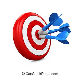 Arrow Darts and Target