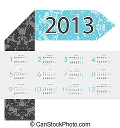 arrow design 2013 calendar