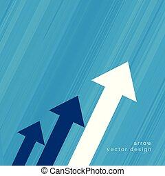 arrow design for business growth concept
