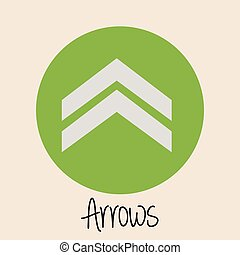 Arrow design over beige background, vector illustration
