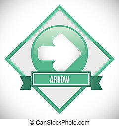 Arrow design over seal stamp, vector illustration 10 eps...
