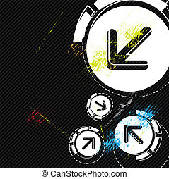 arrow design with grunge background