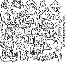Arrow doodle drawings