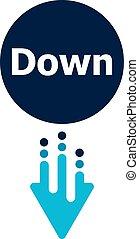 Arrow Down icon - button for web site