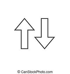 Arrow, down, up icon. Vector illustration, flat design.