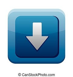 arrow download app button menu isolated icon