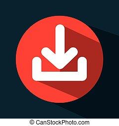 arrow download data icon