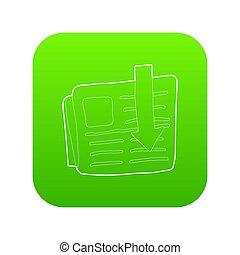 Arrow download file icon green