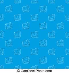 Arrow download file pattern seamless blue