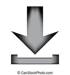 Arrow download icon sign.