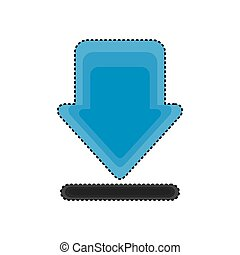 arrow download isolated icon
