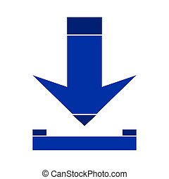 Arrow download symbol icon.