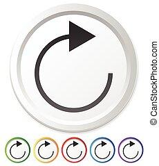 Arrow element for circulation, loop, restart concepts, ...