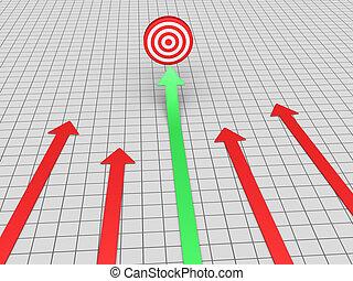 Arrow finds target