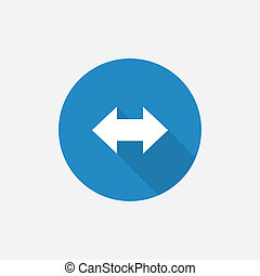 arrow Flat Blue Simple Icon with long shadow