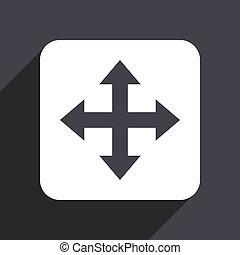 Arrow flat design web icon isolated on gray background