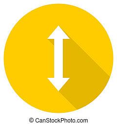 arrow flat design yellow web icon