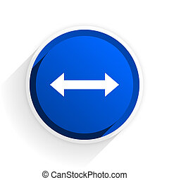 arrow flat icon with shadow on white background, blue modern design web element