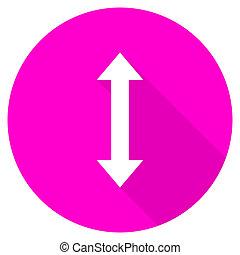 arrow flat pink icon