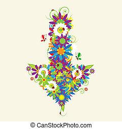 Arrow, floral design. See also arrows in my gallery