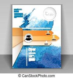 arrow flyer for design