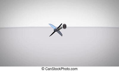 Arrow flying towards dart boad