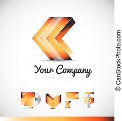 Arrow forward concept logo 3d icon