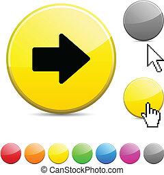 Arrow glossy button.