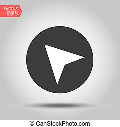 Arrow gps icon vector, in trendy flat style isolated on white background. Vector illustration eps 10