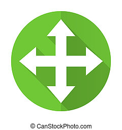 arrow green flat icon