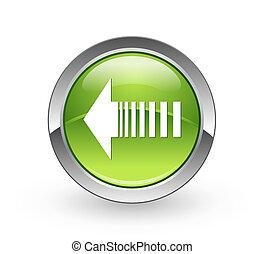 A high resolution green sphere push button