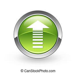 Arrow - Green sphere button