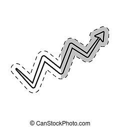 arrow growing financial icon