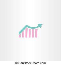 arrow growth chart symbol