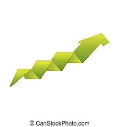 arrow growth isolated icon vector illustration design