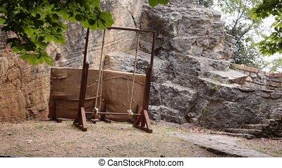 arrow hitting a rope