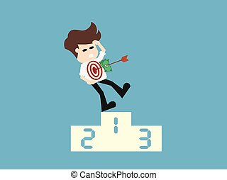 Arrow hitting target. Business concept illustration.