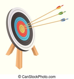 Arrow hitting target vector design illustration