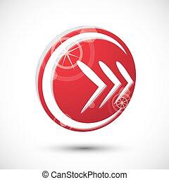Arrow icon , abstract icon, 3d vector symbol