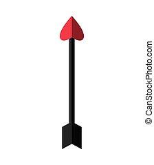 Arrow icon. Archery design. Vector graphic