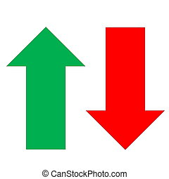 arrow icon - Arrow icon red and green