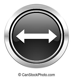 arrow icon, black chrome button