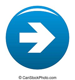 Arrow icon blue circle isolated on white background
