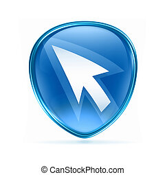 arrow icon blue, isolated on white background