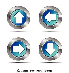 arrow icon button white background