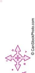 Arrow icon design vector