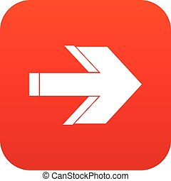 Arrow icon digital red