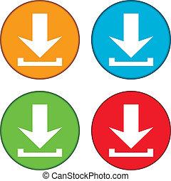 Arrow icon download set