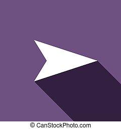 Arrow icon, flat style