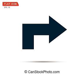 arrow Icon graphic, recycling logo vector illustration